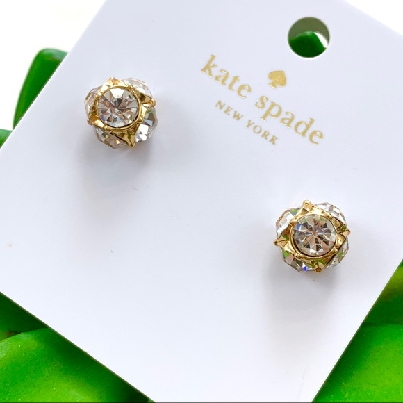 b14ed9af6 kate spade Jewelry | Goldclear Lady Marmalade Stud Earrings | Poshmark
